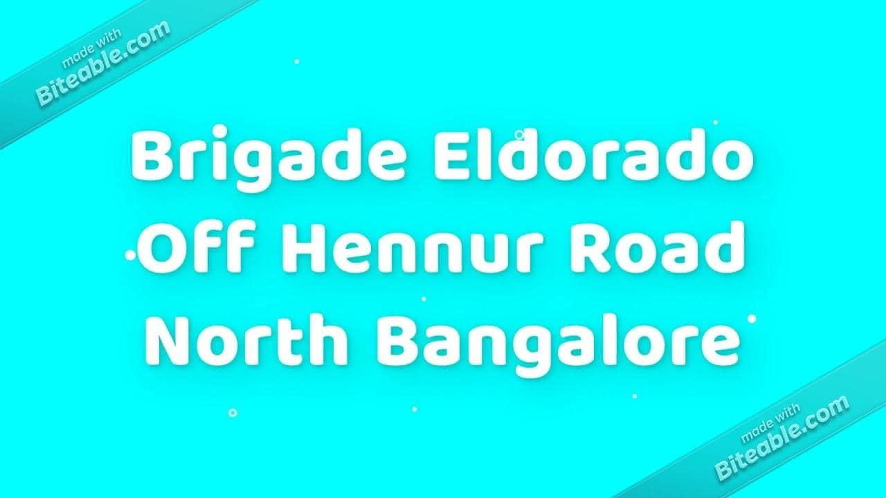 www.brigadeeldorado.net.in - Brigade Group #brigadeeldorado #brigadegroup #ApartmentsinBangalore #brigadeApartments #realEsatate