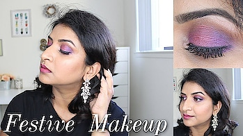 Indian Festive Look ,Pink Purple Eyeshadow || Diwali (2018) . . . . . . . Diwali Makeup Tutorial. Details in my video (or Click Link in Bio⬆️) . . . . . . . . . . . .  . #lips  #mascara  #crease  #concealer  #eyebrows  #lips  #lashes  #lash  #foundation #cosmetics #instamakeup  #beautyblogger  #eyeshadow  #eyes  #makeup #beautyblog  #fashiongram  #makeuponpoint  #makeuplook  #everydaymakeup #review #reviewer #eye-makeup #ropo-beauty #ropo-love #roposo #trendy #trend-alert #fashionista #lookgoodfeelgood   #fashionquotient #desi #desimakeup #indianmakeup #indian #festive #festivelook #festivemakeup #jhumkas #jhumkis #earring #earrings #jewellery #kurta #saree #desigirl #glam #glammakeup #pinklips #nudelips #smokey #smokeyeyes #diwali #diwali2018 #diwalilook #diwalimakeup #diwalimakeuptutorial #makeuptutorial #diwalivibes #diwalidecor #diwaliwear #diwalieve #diwalishopping #diwalifever #diwalipics #ethnicstyle