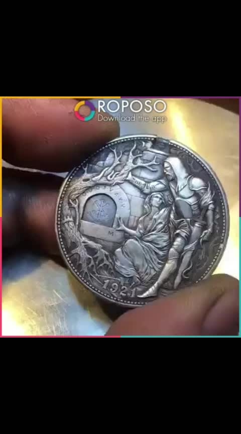 #knife in coin