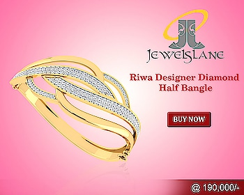 #Riwa Designer #Diamond #Half #Bangle In #14kGold Riwa designer #diamond #halfbangle set in #hallmarked 14k #gold studded with 156 round brilliant cut #diamonds in a smart & #modern #design. http://bit.ly/2AOZRsI