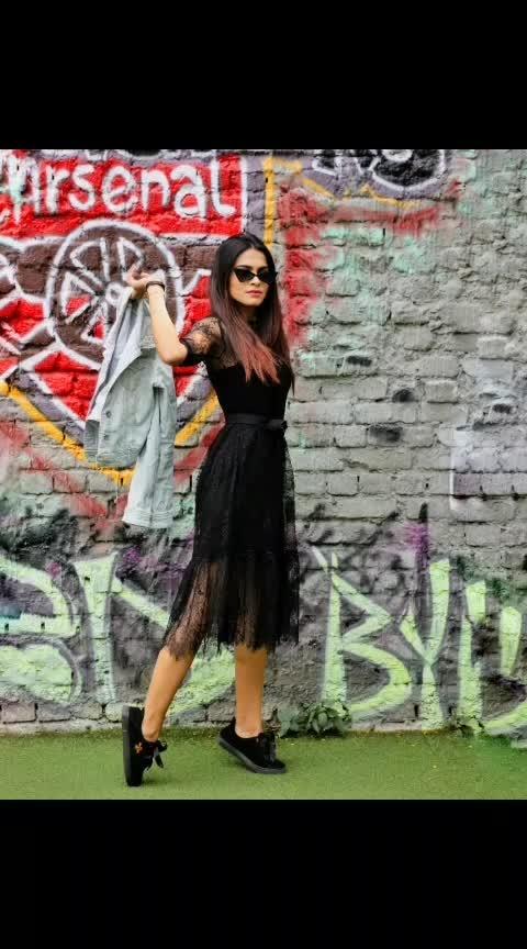 #fashionoftheday #style #stylegram #delhifashionblogger #fashionblogger #brand #photography #photooftheday #basic #lovemyjob #instalove #look #blackdress #denimjacket #blacksneakers #black #graffiti #trending #trend #fashionpost #styleguide #stylegram #lifestyleblogger #fashiondaily #bloggers #aashimalamba #thebasicrebel