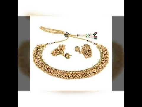 #jewellery  White and Gold tone beaded jewellery sets / jumka / kundan jewellery / artificial jewellery