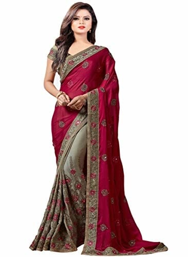 Arohi Designer Women Georgette #Saree with #Blouse @ Rs.1599. Buy Now at http://bit.ly/2DeZDNg