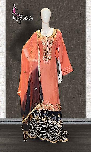 Orange and Blue Uppada Sharara Suit  http://www.khojkaladesign.com/sharara/orange-and-blue-uppada-sharara-suit.html  SKU: KHOJ2712 ₹6,610  #fancysuitsdesigner #fancysuits #sharara  #womenfashion #indianfashion #bollywoodfashion #bollywooddresses #weddindsuit #actressfashion #celebrityfashion #fashionista #khojkala