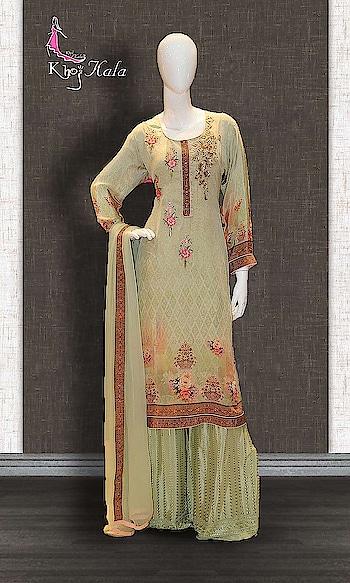 Green Uppada Sharara Suit  http://www.khojkaladesign.com/sharara/green-uppada-sharara-suit-17527.html  SKU: KHOJ2685 ₹4,883  #fancysuitsdesigner #fancysuits #sharara  #womenfashion #indianfashion #bollywoodfashion #bollywooddresses #weddindsuit #actressfashion #celebrityfashion #fashionista #khojkala
