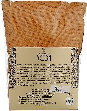 Veda Indian Masala Tea  (100 g, Pouch)   Powder Form 24 Month Shelf Life Pouch Container  Buy Now :- https://bit.ly/2PND09B  #tea #coffee #masalatea #teapowder #coffeemaker #cooffeepowder #tulsi #tulsipowder #greentea