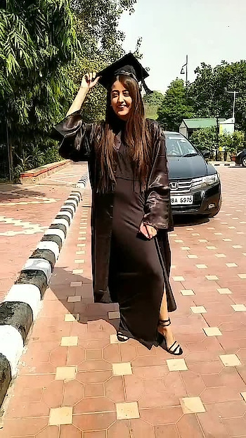 ||After four years of hard work ✅ Fashion Design Graduate 💕 . . #howilikeit #howilikeitjournal #geetikasehgal #fashion #fashionblogger #blogger #graduation #fashiondesigner #college #graduationootd #ootd #black #blackgown