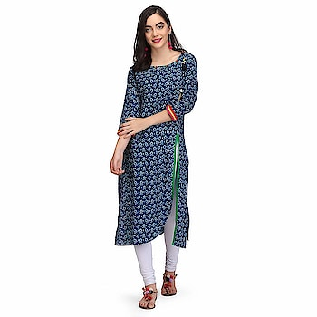 PRINTEMPS Indigo Cotton Ladies Kurta with printed bird trims for women & Girl  Type- Stylish Soft and comfortable to wear all day long Kurti Fabric- Cotton:: Color- Indigo Suitable For: Girls/Women::Sleeves-3/4 Sleeves Occasion: Suitable for a casual everyday look, occasions especially for office, parties, clubbing ,dating wear, Party Wear Wash Care: Hand Wash Cold water Only Gentle Wash in Washingmachine Line dry Warm Iron Do not bleach  #women #clothing #kurti #top #dress #designer #stylish #fashionable #womensfashion #womenskurti #womenstop #topforwomen #uniquedesign   Buy Now:- https://amzn.to/2PXyncM