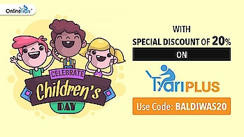 Celebrate Children's Day With Special Discount of 20% on TyariPLUS #onlinetyari #tyariplus #tyari #plus #youtuber #childrensday