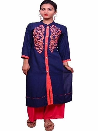 cotton silver Casual Embroidered Women Kurti  (Blue) Product link:-https://amzn.to/2z8gNJN  Click for more option:-https://amzn.to/2RYrq9V  #kurti #womenkurti #partywearkurta #casualkurti #designerkurti