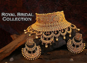 Every girl wish to look outstanding on her special day, so Anuradha Art Jewellery offers this golden colour bridal set. This necklace set is superior in quality and skin-friendly as well. This full traditional jewellery set will surely make you look outstanding.To see this bridal wedding collections click on the link:http://bit.ly/2DnZV4o #bridaljewellery #weddingjewellery #bridalnecklace  #jewellerysetfor wedding #bridalaccessories