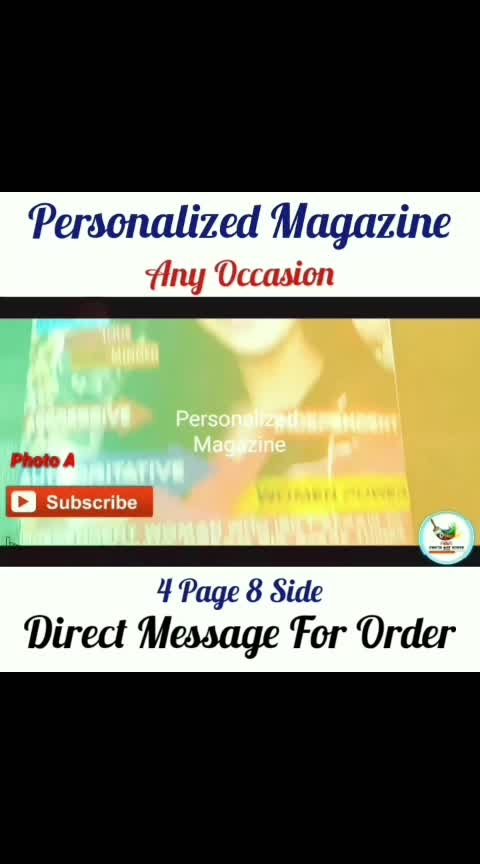 Personalized Magazine Gift🎁🎁 New Order Done Happy Customer❣️ Trending Unique Product❣️ Direct Message For Order @photo_art_store @gifts_shopping_time  @gift_online_store  @personalized_magazine Special🎁🎁🎁🎁🎁😘 😍SPECIAL PERSON😍 Keep Ordering😍😍 Birthday Couple Friendship Family Anniversary 😍😍 😍 DM for Order . #surprises #specialgift #happybirthday #birthdaygift #birthdaygifts #customisedgifts #uniquegifts #giftsforher #giftsforhim #giftsforcouple #personalisedcards #greetingcards #mosaicstories #colorful#memories #moments #friends  #birthday #anniversary #weddings #gifts #customized #personalized  #photo_art_store #gifts_shopping_time  #gift_online_store  #personalized_magazine