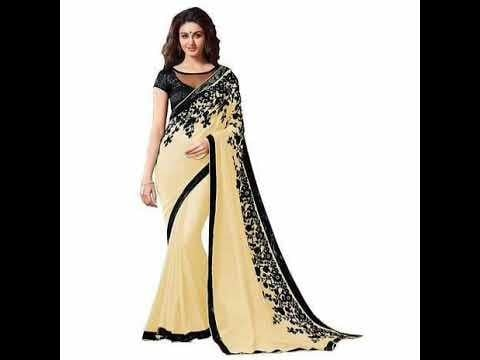 Embellished Georgette sarees with blouse piece