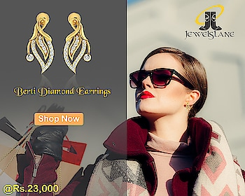Berti #diamond #earrings set in #hallmarked #gold studded with round brilliant cut #diamonds in a fancy leaf #design #Jewelslane http://bit.ly/2oHCaP3