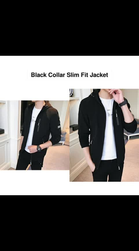 Black Collar Slim Fit Jacket - - #fashion #style #stylish #love #photography #instapic #me #cute #photooftheday #nails #hair #beauty #beautiful #instagood #pretty #swag #pink #girl #eyes #design #model #dress #shoes #heels #styles #outfit #purse #jewelry #shopping