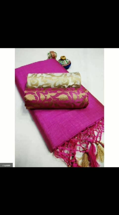 *-----------------* *Hot Selling Chanderi Cotton Sarees with 2 blouses!-*  saree with 2 blouse  Saree material:-  Chanderi cotton silk (Heavy material) Blouse:- Heavy brocket Contents: 2 blouse and 1 saree Color: As shown in the picture Length: 5.5 m Blouse:  0.80 m Quality assured!  *Disclaimer-Product color may vary slightly due to lighting effects used in photoshoot and your screen settings *-----------------*