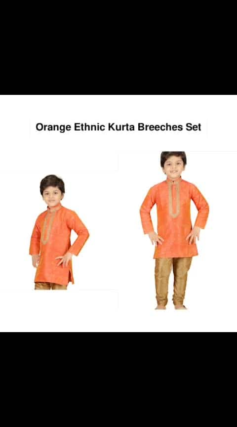 Orange Ethnic Kurta Breeches Set - - #fashion #style #stylish #love #photography #instapic #me #cute #photooftheday #nails #hair #beauty #beautiful #instagood #pretty #swag #pink #girl #eyes #design #model #dress #shoes #heels #styles #outfit #purse #jewelry #shopping