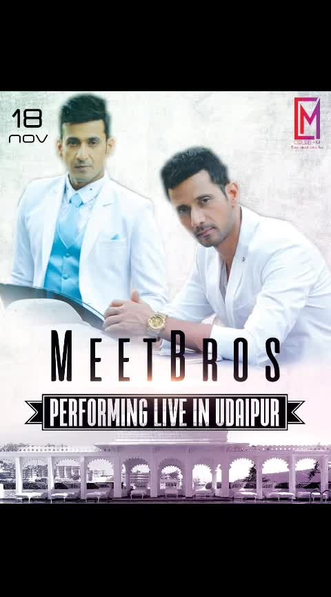 This amazing duos @harmeet_meetbros @meet_bros_manmeet  performing tonight at udaipur.   #bollywoodplaybacksingers #musicdirectors #coolestbros #celebm #artistdiaries #exclusivedeal #artistlife #artistsofinstagram #artistmanagementagency