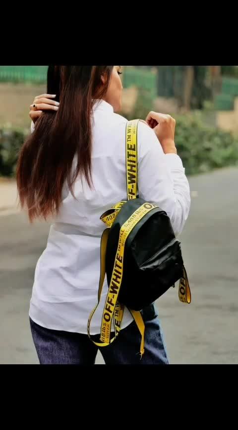 #bag #bags #blackbag #offwhite  #fashionoftheday #style #stylegram #delhifashionblogger #fashionblogger #brand #photography #photooftheday #basic #lovemyjob #instalove #look #trending #trend #fashionpost #styleguide #stylegram #lifestyleblogger #fashiondaily #bloggers #aashimalamba #thebasicrebel