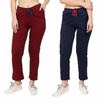 Diaz Plain Lower for Women Pack of 2  Color::Maroon, Navy Blue Fabric: 100% Cotton Washing Instructions: Hand Wash In Cold Water Occasion: Casual wear, Daily Wear, Sports wear Waistband: Elastic Closure  Buy Now :- https://amzn.to/2TqwxA5  #stylish #comfortable #fashionable #women #Capri #cotton #Multicolor #legging #printed #combolegging #anklelegging #black #trackpants