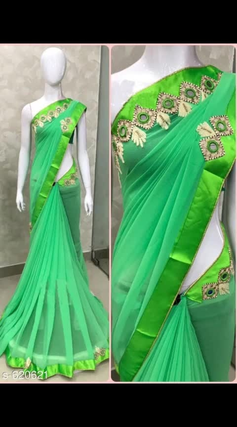 *Vedika Custom Trendy Georgette Mirror Hand Work Sarees* 👉Fabric: Saree -  Georgette , Blouse - Georgette 👉Size: Saree Length - 5.5 Mtr , Blouse Length - 0.8 Mtr 👉Work: Mirror Hand Work 👉Cash On Delivery Available 👉Easy Return Policy 💸Price Rs 1019/- . . . . . . . #ajmer  #jaipur  #rajasthandiaries  #orderonline  #ordernow  #booknow  #clientdiaries  #shopnow  #buynow  #onlineshoppinglovers  #onlineshoppinginindia  #follow-  #onlinestore  #onlinedeals  #sareesale  #indianlook  #indianwear