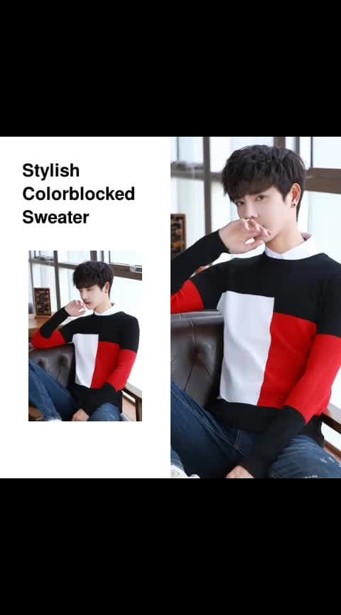 Stylish Colorblocked Sweater - - #fashion #style #stylish #love #photography #instapic #me #cute #photooftheday #nails #hair #beauty #beautiful #instagood #pretty #swag #pink #girl #eyes #design #model #dress #shoes #heels #styles #outfit #purse #jewelry #shopping