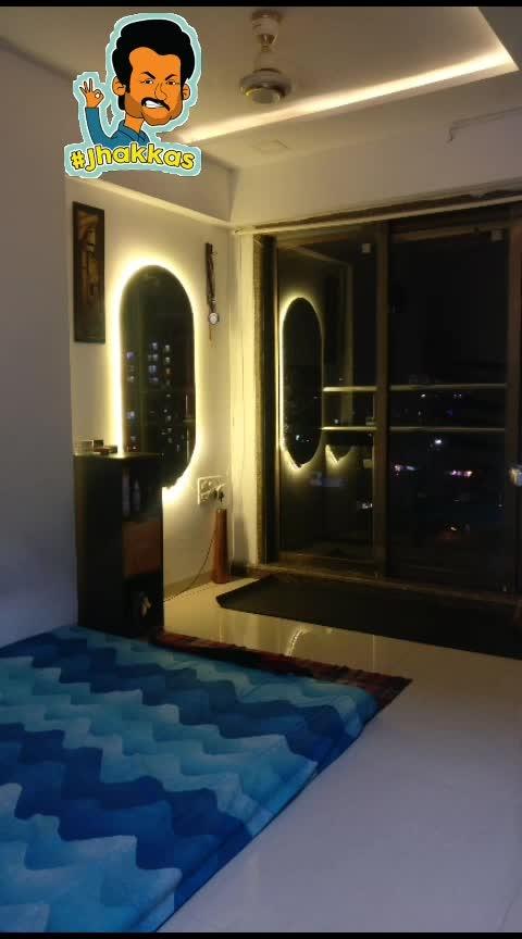 when u have a jhakkas room !!! #myroom #beauty #love #romantic #music #life #mumbai #happy #decorations #curtains #light #memories #party #beer #friends