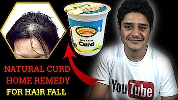 Curd for hair loss home remedy natural hair fall treatment-Get your hair back in one month  #hair #natural-hair #hairloss #hairtransplant #hairtreatment #hairsolution #alopecia #curd #homeremedyforhairfall #homeremedies