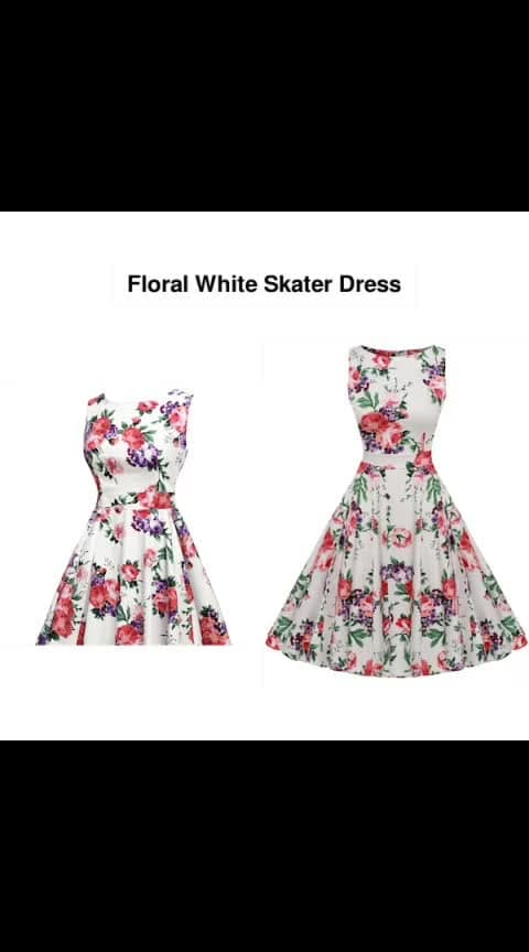 Floral White Skater Dress -- #fashion #style #stylish #love #photography #instapic #me #cute #photooftheday #nails #hair #beauty #beautiful #instagood #pretty #swag #pink #girl #eyes #design #model #dress #shoes #heels #styles #outfit #purse #jewelry #shopping