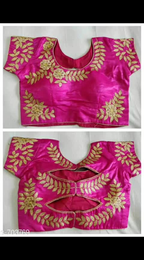 Designer Satin Embroidery Work Blouse Fabric: Satin Sleeves: Short Sleeves are included Size: 38 in ( Extra Margin 4 in) Work: Embroidery #satin #embroidered #blouse #shopwithus #likeit #thebazaar #cashondelivery #followusonroposo
