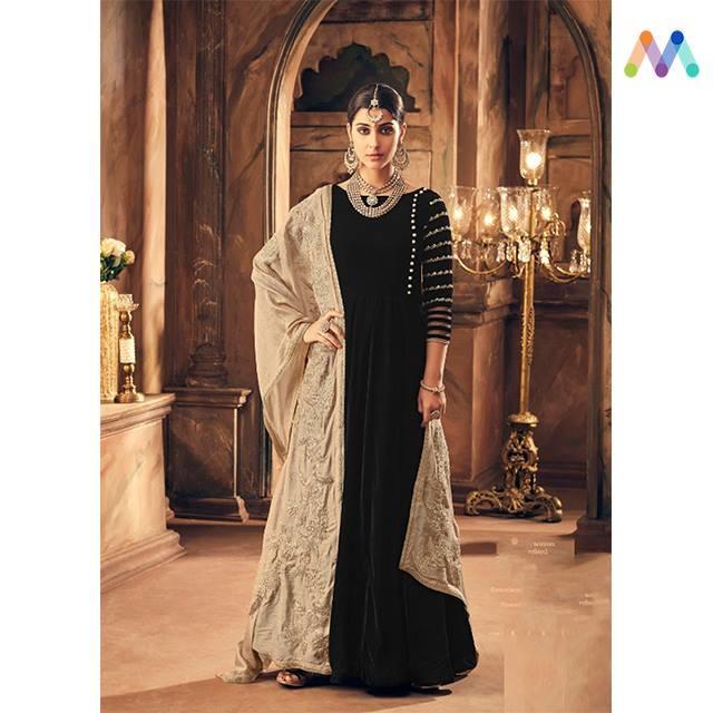 #Black is #Bold and #Velvet is #Royal. Grab this stunning combination available in this Black Party Wear Anarkali available @ https://goo.gl/XnFNN9 #newarrival #SalwarSuit #BuyOnline #OnlineShopping #sneakpeek #golden #indiandesigner #bollywoodfashion #blackfriday #blackfridaysale #blackfridaydeal #ShopNow #Surat #mUmbai #India #USA #unitedstates #Canada #Australia #Dubai #UAE #Mauritius #London #Uk