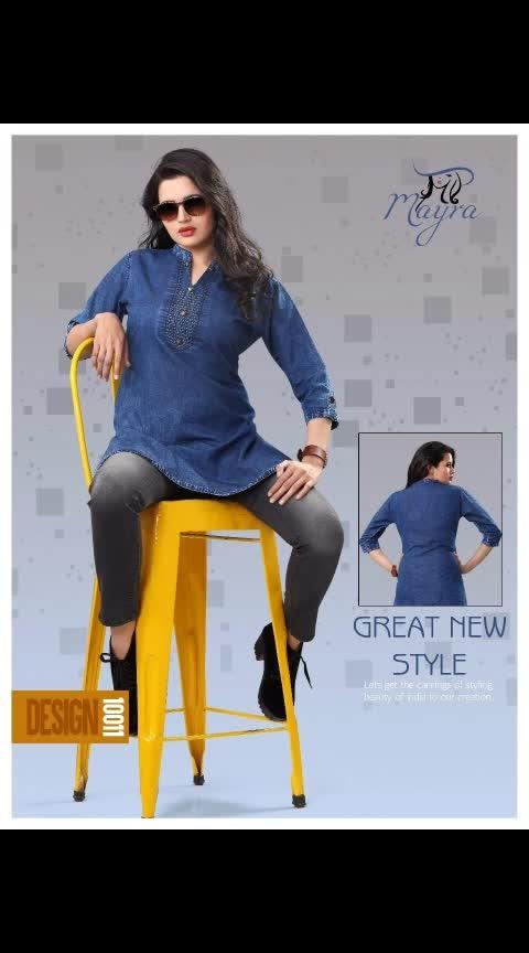 Fabric Details :-  TOP:- Denim   Size:- L, XL, XXL  Type :- Full Stitched  Length :-  45+ *Price : 899 INR*  *FREE SHIPPING ALL OVER INDIA*  . . . . . . . . . . . . . .   #ajmer  #jaipur  #rajasthandiaries  #orderonline  #ordernow  #follow-  #onlineshoppinginindia  #onlinestores  #clientdiaries  #weddingseason  #westernwear  #women_fashion  #kurtishopping  #denim-love  #onlineshoppinglovers  #indianlook  #indianwedings  #onlineindia  #girlscollection
