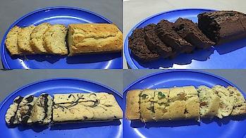 4 way Pound Cake#Vanilla Pound Cake#Marble Pound Cake#Chocolate Pound Cake#Tutti Frutti Pound Cake