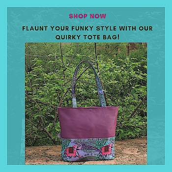 Flaunt your funky style with our quirky tote bag! The tote bag designs is inspired from taxis & painted havelis of Shekhawati region of Rajasthan. With gorgeous colour combinations and remarkable design highlights, its surely a must inclusion in every fashionistas closet.  #totebag #canvasbag #sikar #designerbag #onlineshopping #buyonline #fashion #handbags #designerproducts #bagslover #indiandesigner #instafashion #instastyle #bags #Womens #canvastotebag #jaipur #streetstyle #fashionista #quirkyfashion     https://www.fatfatiya.in/bags/quirky-tote-bags.html https://www.fatfatiya.in/