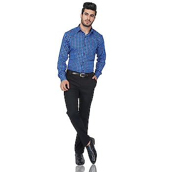 Ruh Republic Men's Checkered Formal Blue Shirt   Fabric: Cotton Slim Fit, Full Sleeve Collar Type: Spread Pattern: Solid Set of 1  Buy Now :- https://bit.ly/2AoEoWn  #checkedshirt #shirt #formals  #formalshirt #multicolored #muticoloredshirt #blue #blueshirt  #casual #casualshirt #checkered #mensshirt #men