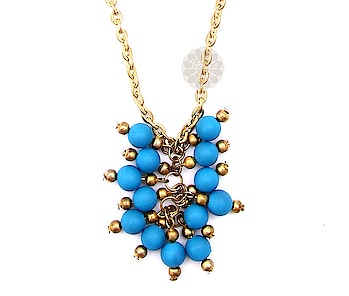 The Cluster of Blue Beads Pendant is an intriguing piece of jewelry. 😍😍😍 #jewelry #designer #house #vogueindia