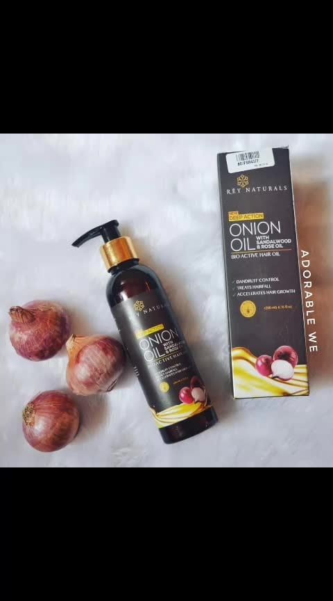 Are you searching for an oil that will help you to reduce your hairfall??? 🙎‍♀️ . . Then here is your answer :- @reynaturals Onion hair oil . . Product name - Deep action Onion oil with sandalwood oil and Rose oil from @reynaturals . . Price & quantity - Rs. 799 for 200 ml (you will always get a very good discount on this product on amazon) . . Ingredients - Made up of Onion oil with sandalwood oil and rise oil. . . Special features- 1. Helps to control dandruff 2. Treats hairfall 3. Aids to hair growth . . Impressions- 1. This oil is easily available on amazon where you can always find a good discount. 2. The packaging of the oil is so easy to use and travel friendly as well. 3. This oil is enriched with all good natural things and no chemicals at all. 4. The oil doesnot at all has the bad smell of onion. It has the fragnance of sandalwood due to presence of sandalwood oil into it. 5. I have used it twice on my hair and i liked it. It did help me to reduce my hairfall to an extend. 6. Since this oil is aiming at a very big problem of womens that is hairfall... i will advice you to use it atleast 1 or 2 times a week for 2 months for best results. . . #reynaturals #adorablewe #onionoil #hairfall #hairfallrescue #sandalwoodoil #hairgrowth #hairgrowthproducts #removedandruff #healthyhair #healthyscalp #beauty #makeup #haircare #reviewofoil #reviewofreynaturals #mumbaibeautyblogger #mumbaibeautyblogger #youtube #mumbaiyoutubber