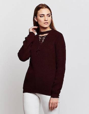Madame - Self Design Sweater   Shop Now: https://bit.ly/2r83GUm  #sweater #sweatshirt #Madame #wintercollecton2018