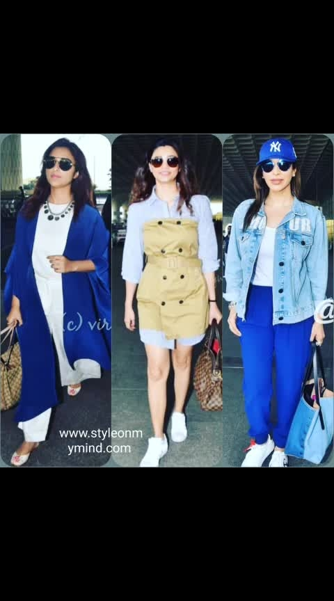 💜 STYLE ON MY MIND 💜  Blue the new cool. Airport glamour  . #traditionalstyle #travelandleisure #ropo-travel #airportlook #airportstyle #airportlooks #comfortwear #comfortfashion #casual-clothing #casualdrsses #sneakers #sneakerholics #sneakerlove #fashion#glamour#style#roposo-styl e#be-fashionable #fashion-addict #roposofashionbloggernetwork #roposo-makeupandfashiondiaries #trendyclothes #trend-alert #be-in-trend #bollywoodfashion #celebstyling #bollywood-diva