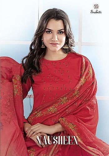Sudriti Nausheen Muslin Wholesale Dress Materials Catalog In India Price per Piece :- ₹765 + ₹38 (GST 5%) MOQ :- 12 Pcs  Top :- Mono Maslin Print With Mirror Work Bottom :- Cambric Dupatta :- Naznine Printed Upcoming Date :- 03/12/2018 Product link :- https://castillofab.com/sudriti-nausheen-muslin-dress-material-wholesale-catalog-exporter -------------------------------------------------------- Call/whatsapp :- +91 8530 23 23 30 Visit our website :- www.castillofab.com -------------------------------------------------------- #dress #dressmaterial #fancydress #printeddress #cottondress #wholesaledress #indianwear #dailywear #weddingwear #topdressbrands #longdress #maxidress #womandress #beautifuldress #suratdress #winterdress #pashminadress #wintercollection