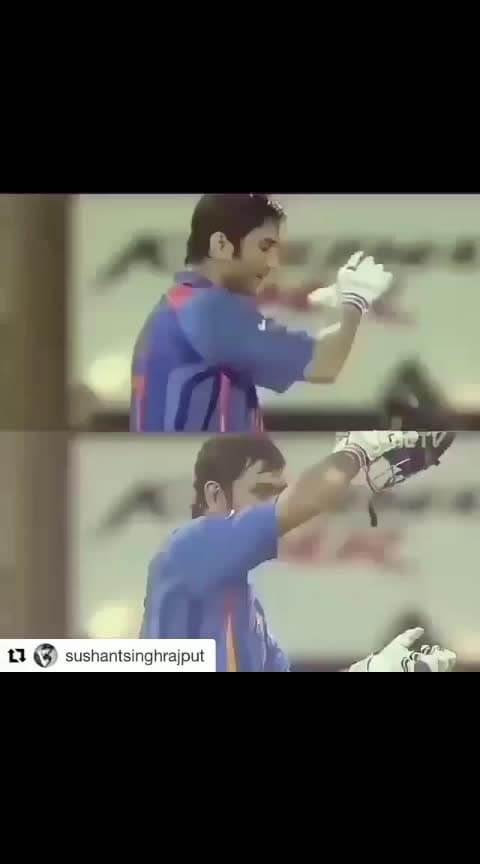 #thala #finish_his_style😎#unforgettable_memory #😍😍😍😍