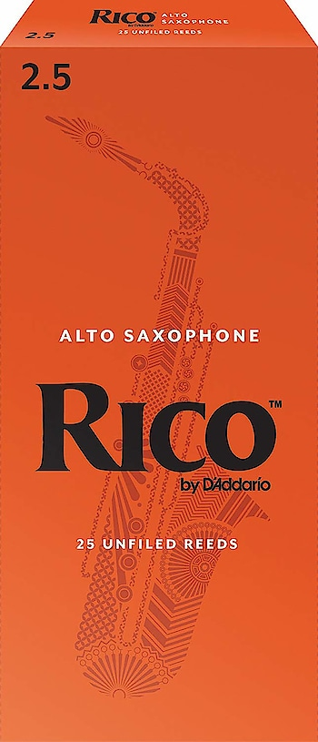 Rico Alto Sax Reeds, Strength 2.5, 25-pack  Thinner vamp cut designed for ease of play Strength 2.5, Unfiled cut, box of 25 reeds Priced affordably for educators Also available for full range of clarinets and saxophones Also offered in 3-reed and 10-reed packs  Buy Now:- https://amzn.to/2Dvp8eo