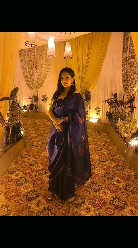 Saree is always a good idea!  #saree #silksaree #indianswag #traditionallook #bluesaree #goldjewellery #simplemakeup #simplehair