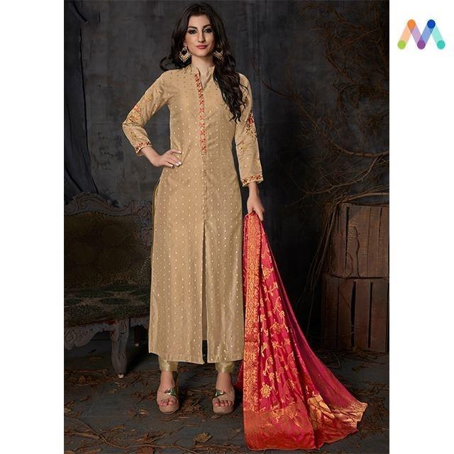 Make Fashion your Passion ! Grab this stunning #Beige Party Wear Suit with #banarasidupatta available @ https://goo.gl/bg3Tdy #newarrival #SalwarSuit #BuyOnline #OnlineShopping #sneakpeek #golden #indiandesigner #bollywoodfashion #ShopNow #Surat #mUmbai #India #USA #unitedstates #Canada #Australia #Dubai #UAE #Mauritius #London #Uk