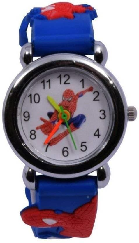 MVS Kids Spiderman Character Pictorial Watch - For Kids Kids Spiderman Character Watch Watch - For Boys  Display Type: Analog Strap: Blue, slicon  Buy Now :- https://bit.ly/2Qrb9MF  #watches #menwatches #mvswatches #digitalwatches #sportwatches #stylishwatch