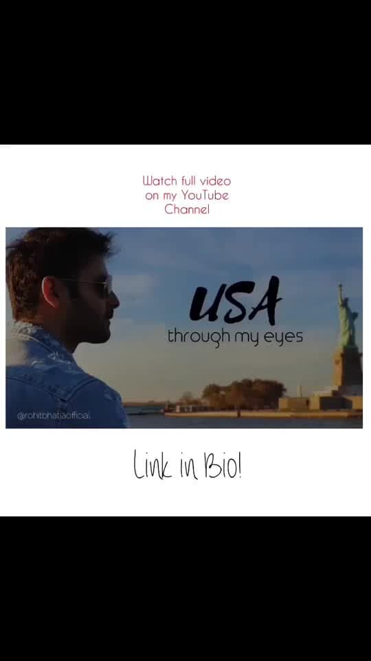 My recent Travel VLOG! Sound 🔊 Watch full video on my YouTube Channel! Link in Bio! youtube.com/rohitbhatiaofficial Like | Subscribe | Share . . . . . #youtube #youtuber #vlog #vlogsquad #travelblogger #travelvlog #travelogue #usa #usathroughmyeyes #linkinbio #bangalore #bangaloremodel #bangaloreyoutuber #travelpost #model #actor #modellife #traveller #like #subscribe #share #youtubechannel