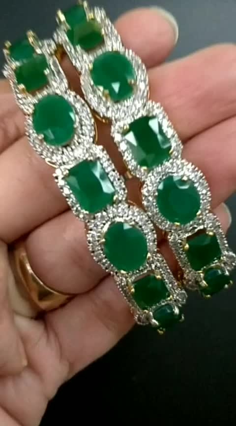 Emerald is our favorite . What 's your favorite stone ? We at Zubhana have bangles in emerald stones, Ruby stones and plain diamond stones . (High quality Imitation  to fit in your budget ) 😁 Contact 8860974879 or message on the page Zubhana for details #zubhana  #timelesstreasures  #zubhana_jewellery #ropo-post #emeralds #diamondjewellery #diamondbangles #kadas #ootd #ootdroposo #jewelry #jewelrylover #jewelryshopping