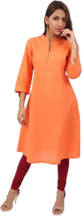 VV Women Solid A-line Kurta  (Orange) Product link:-https://bit.ly/2rk7dz7  Click for more option:-https://bit.ly/2DMgTcX  #kuerti #womenkurti #casualkueri #officewearkurti #designerkurti #cottonkurti