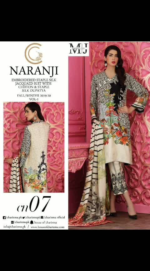 MAYSA COLLECTIONS: 🌹#NARANJI by #CHARIZMA*  Paki Master Replica !!  *❣#Fabulous Colours #Combinations*  *💖Best Quality Lawn Fabric and #Embroidered Patches   👉Embroidered Lawn Top with Embroidered Patches  👉Lawn Bottom with Embroidered Patches  👉Printed Chiffon Dupatta  (8 pc set)  *💍#Pearls use as ur wish free*  *Set Rate : 1050× 8 *Single rate 1350/- 💐Ready Delivery  👇Whatsapp on +918879845751. +919029093762  Whatsapp maysa collections directly from here.. https://api.whatsapp.com/send?phone=918879845751  Also Join our below networks free for getting latest updates.  Hello, thank you for your valuable message to MAYSA COLLECTIONS.  Will get back to  you soon.  FOLLOW ME ON :  WEBSITE ONLINE STORE  http://www.maysacollections.com  FACEBOOK  https://www.facebook.com/maysacollections  YOU TUBE  https://www.youtube.com/channel/UCWAOvQymcY3bTdp_0jFiuzA? sub_confirmation=1  TELEGRAM https://t.me/maysacollections  INSTAGRAM https://www.instagram.com/maysacollection6125  PINTEREST : https://in.pinterest.com/maysacollections/  LINKEDIN  https://www.linkedin.com/in/maysacollections  Google Plus : https://plus.google.com/u/0/collection/oazrIE  ROPOSO http://www.roposo.com/profile/18166642-9884-481a-ad55-8efb727cb4cf?s_ext=true