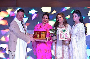 """City's glitterati graces """"Iconic Awards -Season 2"""" event in the capital  By Bipin Sharma  Entrepreneurs Dhiraj Jain and Shallu Jain (Founders of KVJ Group & Co) hosted Season 2 of Iconic Awards 2018 in association with Balaji Media & Entertainment at Le- Meridien on December 1, 2018. Team Balaji Media was represented by M.D Palvinder Singh and CEO Amanpreet Kaur. The glittering event was graced by a galaxy of luminaries from different fields namely IGP Robin Hibu, Sandeep Marwah (Founder, AAFT), MP Udit Raj, Dr Rajneesh M Rana, Rani Shobhal Singh, eminent Media personality Rajni Panwar and poetess Renu Hussain. The event also saw the presence of Bollywood stars including singers, actors and child actors besides a host of Page 3 celebs and other distinguished personalities.   In all, 50 achievers from different fields such as Acting, Jewellery, Makeup, Modelling, Media and Entertainment, Fashion Designing, Astrology etc were felicitated with the prestigious """"Iconic Awards 2019"""". The packed house spoke volumes about the popularity of Iconic Awards and how the event had played a pivotal role in giving a new dimension to the career of the deserving and the meritorious. The esteemed guests were all praise for the untiring efforts of Balaji Media that had left no stone unturned in mesmerizing the audience with their astounding state of the art stage and lighting set up.    Poonam Saini, one of the awardees remarked, """"The Iconic Awards have been a redefining moment for many like me in our professional careers. Kudos to Shalu Jain and Balaji Media for providing the real deserving beings a splendid opportunity to bring their acumen to the fore.""""  Notable among those in attendance included stalwarts like Bharat Aggarwal (CMD of Sheetal Group-Biggest Water Tanks Manufacturing Company in India), B N Nigam (Chairman of Modern International School), Piyush Jain (Director, Pravesh Papers Private Limited), S K Jain (ASN Impex), renowned Astrologer Jai Madaan, Anil Gupta (Director, """